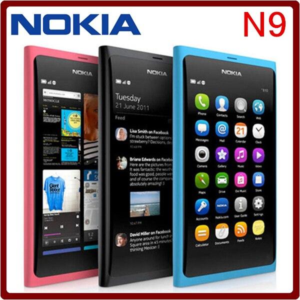 bilder für N9 Ursprünglicher Freigesetzter Nokia N9 8MP 16 GB ROM 1 GB RAM GPS 3G Bluetooth WIFI Handys Kostenloser Versand