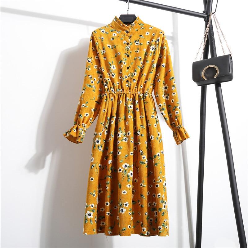 nijiuding новый осень-зима женское повседневное платье