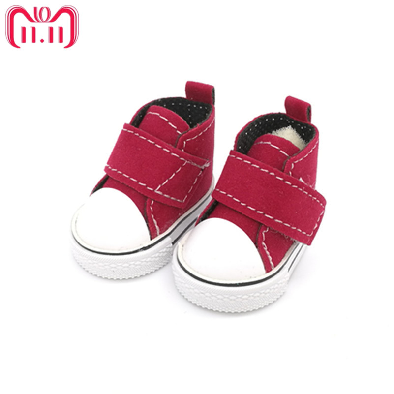 5cm Mini Doll Shoes For BJD Dolls,Casual Toy Shoes for 1/4 Bjd Doll Footwear Shoes for Handmade Sewing Tilda Dolls one pair canvas shoes for paola reina doll fashion mini toy gym shoes for tilda 1 3 bjd doll footwear sports shoes for dolls accessories