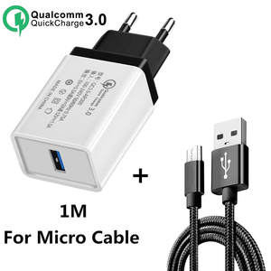 Image 1 - 5V 3.5A QC3.0 Universal Fast charging Phone Charger for iphone XS HuaweITravel Charger Wall Adapter for Xiaomi Samsung tablets