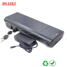 цена на Rear rack type electric bike battery 36V 9Ah 9.6Ah lithium ion battery pack with charger