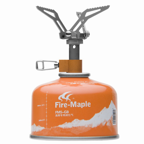 ФОТО Fire Maple FMS-300T Outdoor Smallest Titanium Mini Gas Stove Lightweight Foldable Portable Camping Stove 45g 2600W Free Shiping