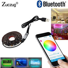 TV Backlight LED Strip Light RGB 5 V USB Power 5050 DC 5V SMD HDTV Desktop PC Screen Lighting 50CM 1M Wifi Bluetooth Controller(China)