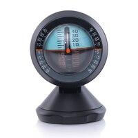Carro inclinômetro nível indicador de inclinação ferramenta de balanceador gradiente para veículos fora de estrada e auto-condução viajar suprimentos