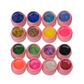 16 pot/Set Nail Varnish Mix Pure Glitter Pure Color UV Builder Women UV Gel Nail Art Tips Shiny Gel Cover Extension Manicure