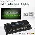 VOXLINK 1080 P UHD HDMI Splitter 1x2 1X4 1x8 Усилитель HDMI 2.0 Switcher 1 в 2/4/8 Выход HDMI Конвертер 3D 4 К * 2 К HDCP2.2 Для HDTV