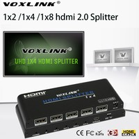 VOXLINK 1080p UHD HDMI Splitter 1x2 1X4 1x8 Amplifier HDMI 2 0 Switcher 1 In 2