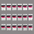 1 pack = 18pcs Nail Art Form Fringe Guides Sticker DIY French Stickers Manicure Nail Decoration Tips Decals Styling Beauty Tool