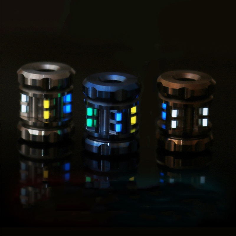 Titanium Alloy Tritium Tube Signal Light Self-luminous Pendant Outdoor Signal Bracelets Necklace Accessories Knife Beads Tools
