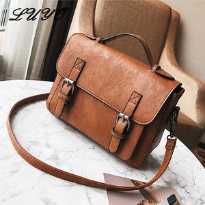 fa85616589 LUYO Leather Women Messenger Bags Shoulder Bags Female