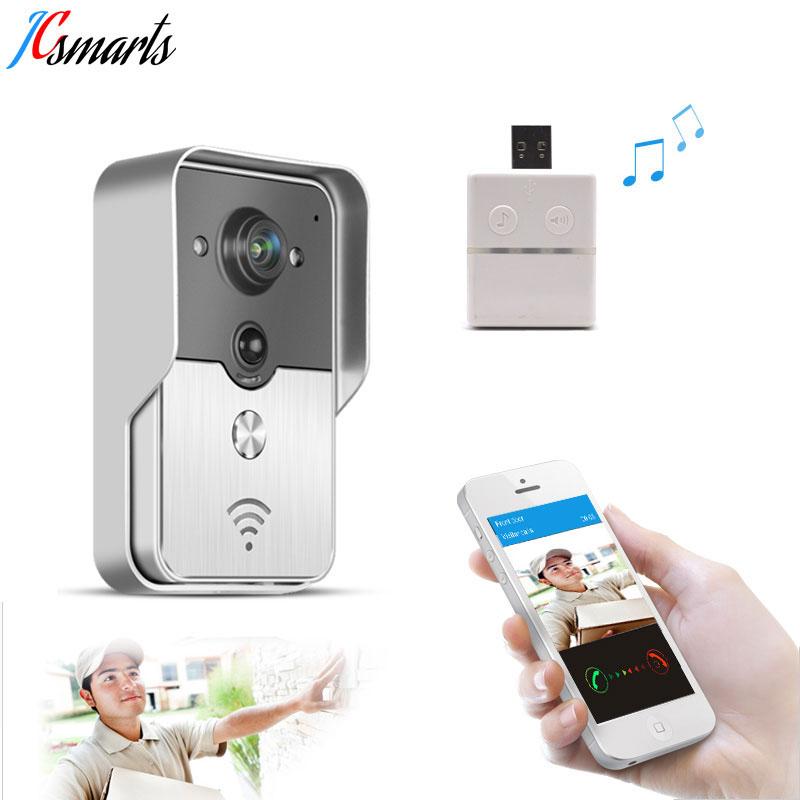 где купить KONX KW01 WiFi Wireless Video Door Phone intercom Doorbell peephole Camera PIR Detect Alarm Night vision USB Music Doorbell дешево