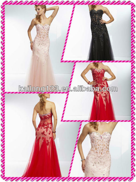 Lovely Mermaid Trumpet Floor Length Sweetheart Beaded Lace Liques On Net Sheer Midriff Blush Black Red