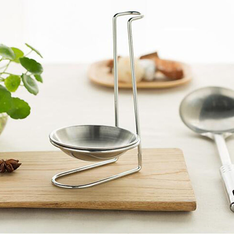 US $4.52 17% OFF|Stainless Steel Spoon Rest Lid Holder Vertical Spoon Lid  Stand Storage Rack Cookware Organizer Kitchen Accessories Cooking Tools-in  ...