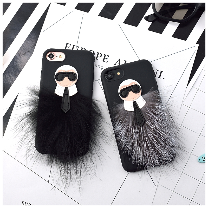 new product de8c2 a90eb Hot Sale 3D Case Lafayette Cover For iphone 7 7 Plus 6 6s 6plus Mr  KarlLagerfeld Fur Skin For Apple Phone Black Back Case Cover