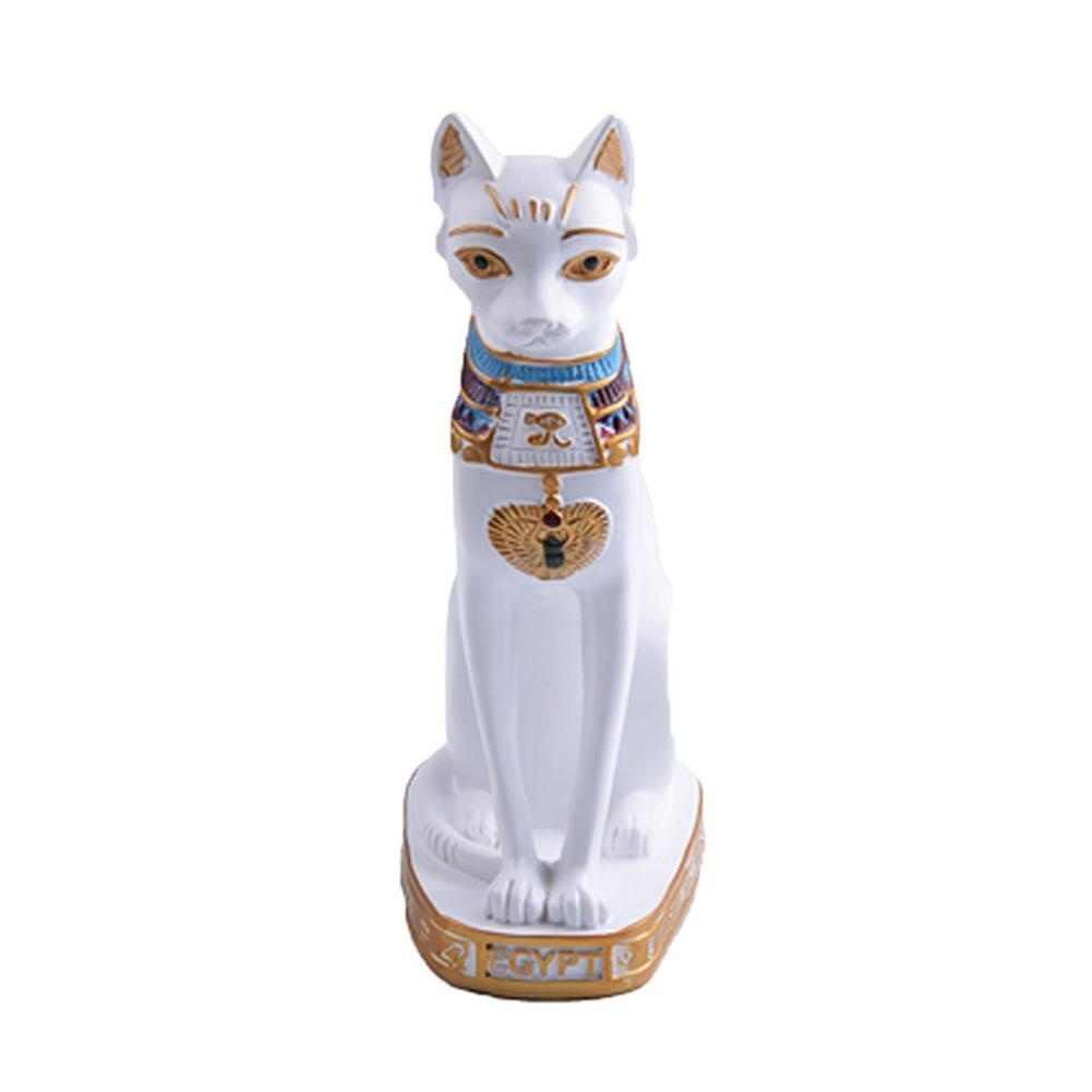 Di alta Qualità Gatto Egiziano Dea Figurine Statua Mestiere Ornamento Della Resina Home Office Decorazione Vintage Cat Dea Bastet Statua