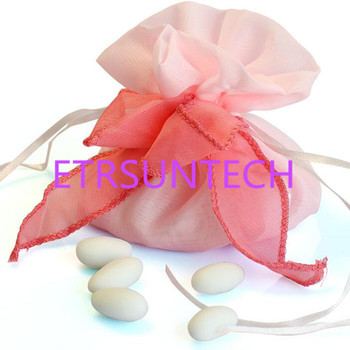 100pcs Wedding Candy Souvenir Gift Bags Pouch With Ribbon Birthday Chocolate Bag Wedding Decoration