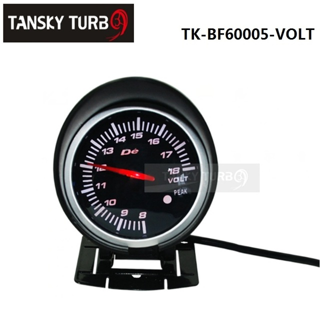 Tansky - BF 60 mm LED Volt medidor Car Auto de alta qualidade Motor medidor com Red & White Light TK-BF60005-VOLT
