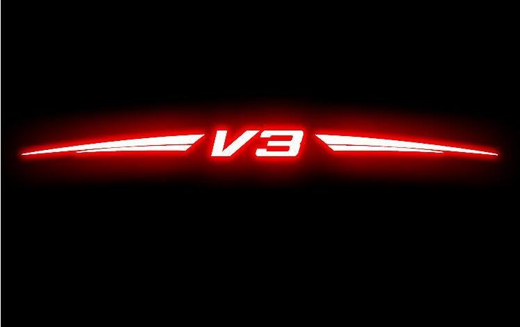 For Brilliance V3, High Brake Light Car Stickers, 3D Carbon Fiber Material, Free Shipping