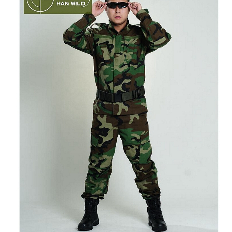 Jungle Camo militaire tactique veste + pantalon uniforme été Camouflage militaire BDU Combat uniforme US chasse vêtements ensemble