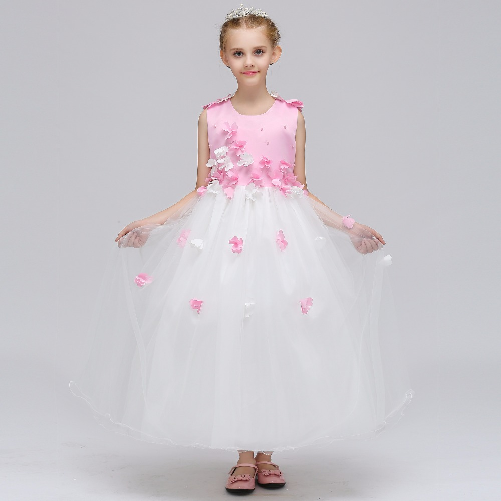 Chic A-Line Sleeveless Flower Girl Dresses for Weddings Little Girls Elegant Princess Style Dress For First Communion Dress