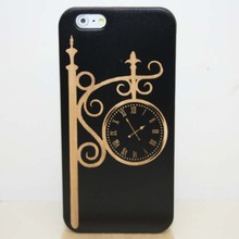 Real Wood Vintage Openwork Pattern Carving Wooden Wood PC Side Case Bamboo Cover Fundas Capa Coque