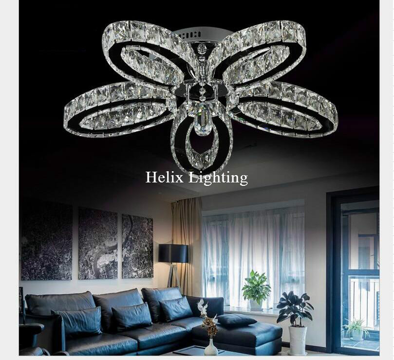 Free Shipping D650mm New Arrival Fashion Moderen Luxury LED Light Crystal Ceiling Hallway Lighting Stainless Steel Ceiling Lamp free shipping new arrival 35pcs pack 2m pcs led aluminum profile for led strips with milky or transparent cover and accessories