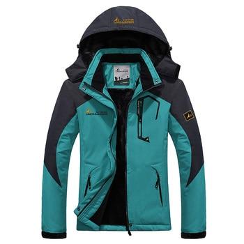 Women Winter Waterproof Jacket Softshell Windbreaker Rain Fleece Outdoor Sport Warm Coat Camping Trekking Skiing Hiking Jackets