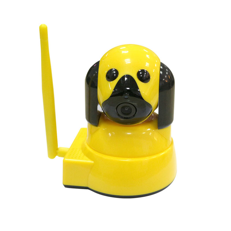 720P Baby Monitor Smart Home Wireless Security Dog Camera IP Camera WiFi CCTV Surveillance Camera Night Vision Indoor,Yellow