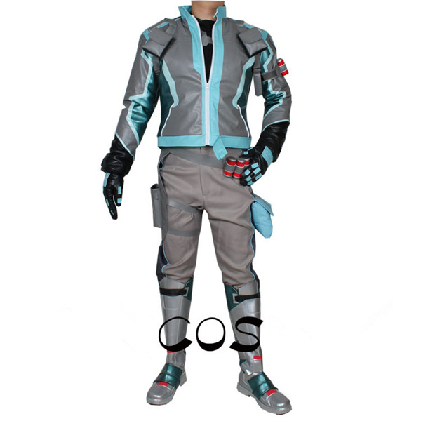 The Game OW soldier 76 Venom Agent Cosplay Costume Top Coat Pant font b shoes b