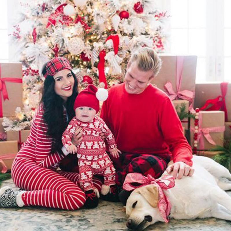 43456cb001 Xmas Moose Fairy Christmas Family Pajamas Set Adult Kids Sleepwear  Nightwear Pjs Photgraphy Prop Clothing-in Matching Family Outfits from  Mother   Kids on ...