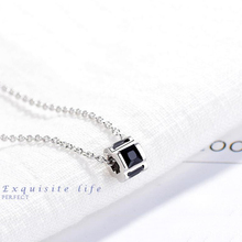 Luxury AAA Cubic Crystal Rhinestone Necklaces Beautiful Hollow Out Cylinder Necklace  Crystal Pendant Necklace Jewelry for Women stylish rhinestone heart hollow out pendant necklace for women