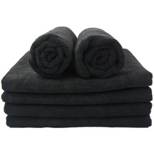 Sinland Microfiber Hair Drying Towel Beauty Salon Spa Bath Towels Fast Drying for Home Hotel 41cmx69cm 6 Pack Black Dark Blue