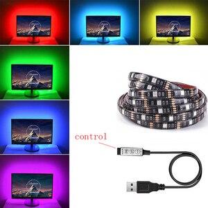 TV Background LED Strip Light Tape Diode Ribbon Flexible Controller RGB 5050 1M DC 12V Z20 SMD SMD5050 Living Room Motion 3000K