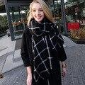 Za marca cachemira de la tela escocesa diseñador wrap manta caliente del invierno para mujer mantón de la bufanda para punto el poncho MY018