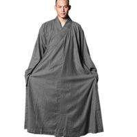 ZanYing для мужчин серый платье буддийский медитации монах наряд большой халат ZYS328