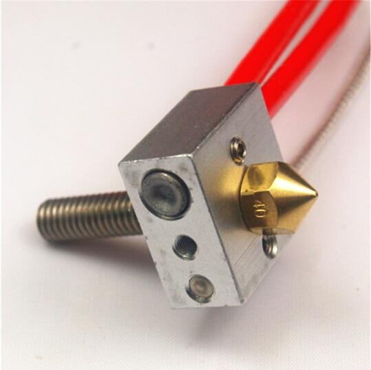 Reprap Prusa Flashforge 3D printer PT100 Temperature Sensor hotend kit/set 12V/24V 40W heater cartridge 0.4mm nozzle PTFE tube 5pcs 3d printer prusa mendel 12v 40w 6 20mm cartridge heater reprap 12v 40w with 100cm cable for tevo 3d printer
