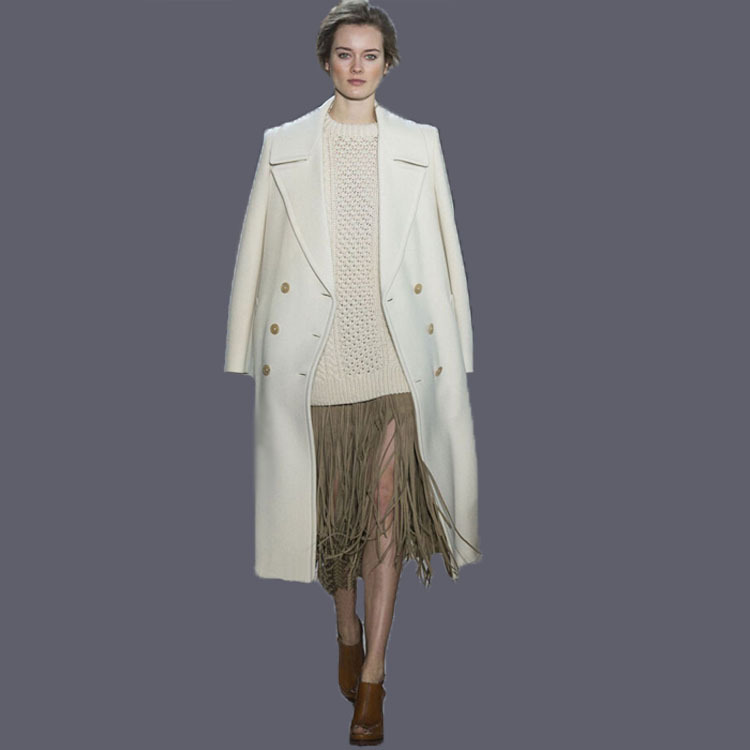 Popular White Cashmere Coat-Buy Cheap White Cashmere Coat lots ...