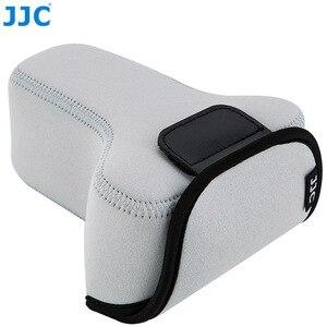 Image 2 - Jjc 미러리스 카메라 파우치 소프트 dslr 케이스 가방 소니 a6600 a6100 a6300 a6400 a6500 후지 필름 xt30 xt20 xt10 + 55 210mm 렌즈