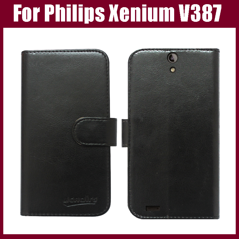 For <font><b>Philips</b></font> Xenium <font><b>V387</b></font> Case,Flip Leather phone case cover for <font><b>Philips</b></font> Xenium <font><b>V387</b></font> Mobile Phone Bag with Card Holder 6 Colors. image