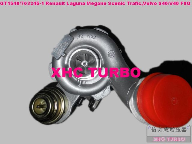 NEW GT1549S/703245-0001 751768 Turbo Turbocharger for Renault Megane SCENIC TRAFIC Volvo S40/V40 F9Q 1.9L 100HP