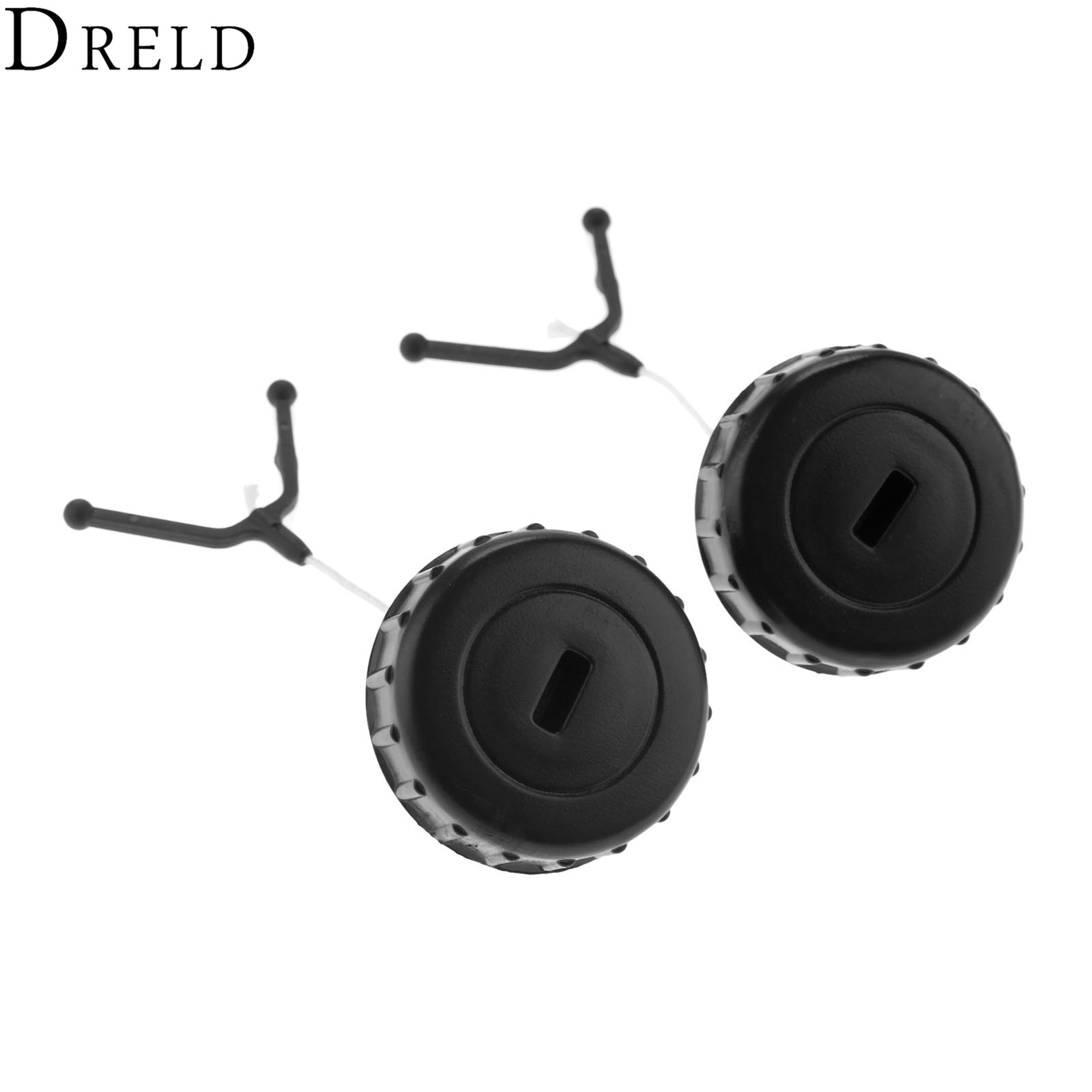 DRELD 2pcs Plastic Fuel Gas Petrol Cap Oil Caps For STIHL 017 018 MS170 MS180 Chainsaw 1130 350 0500 Garden Power Tools