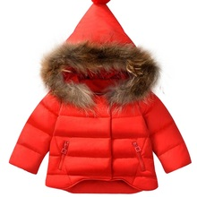Christmas winter down jacket parka for ladies boys 2017 Winter heat youngsters's clothes for snow put on children outerwear Baby coats