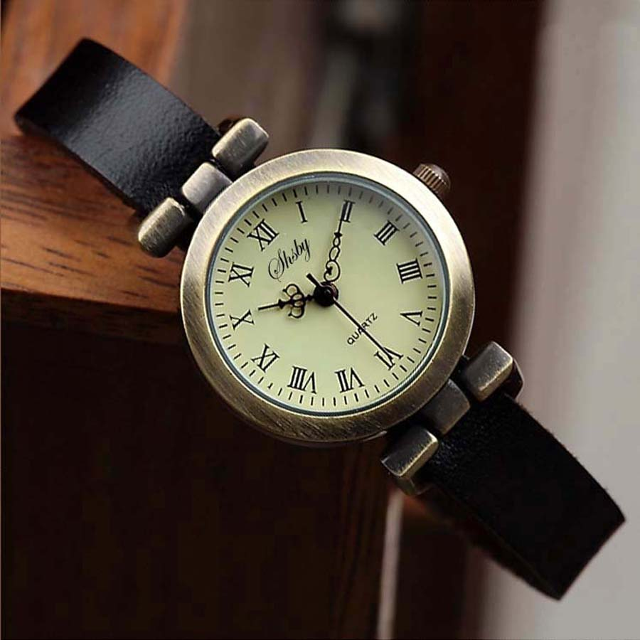 Shsby New fashion laris kulit perempuan menonton ROMA vintage yang - Jam tangan wanita - Foto 3