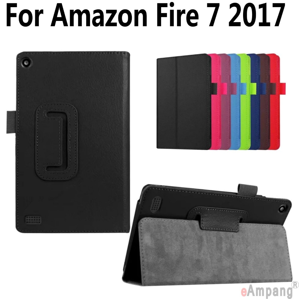 PU Leather Case For Amazon Fire 7 2017 Thin Smart Wake Tablet Case Cover For Amazon Fire 7 inch 2017 Version with kickstand ultra thin smart flip pu leather cover for lenovo tab 2 a10 30 70f x30f x30m 10 1 tablet case screen protector stylus pen