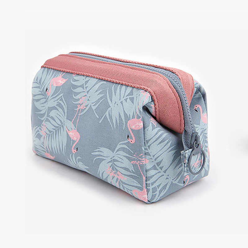 Hot Sale Women Cosmetic Bag Printing Zipper Brush Organizer Toiletry Case Travel Lady Makeup Bags JLRS 2019