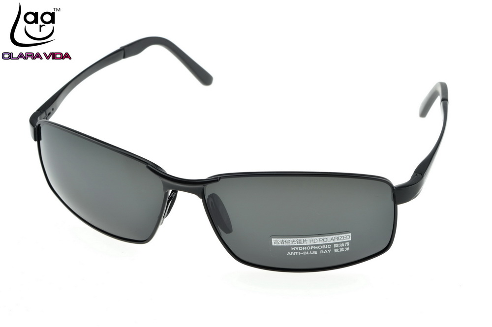 c476faf65b Al Mg Alloy Inner Coating Polarized Sunglasses Men Black UV Polaroid Sport  Driving Outdoor Designer Sun Glasses-in Sunglasses from Apparel Accessories  on ...