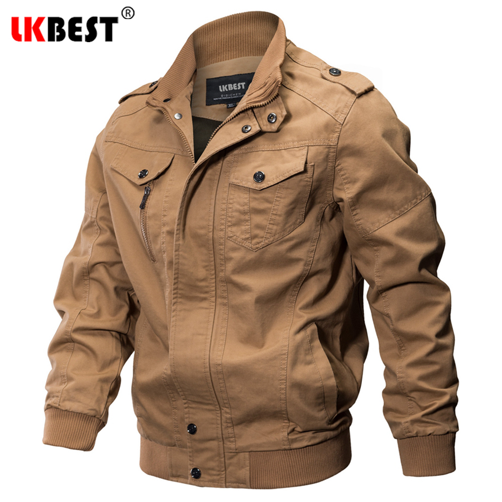 Mens Outdoor Military Classic Bomber Flight Jacket Pilot Jacket Air Force Tactical Jacket Orange Lining For Rescue Purpose Bright In Colour Skiing Jackets