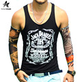 2017 Summer Brand Tank Top Men Sleeveless Shirt Casual Trendy Fashion Letter Printing Bodybuilding Fitness Vest Clothing LW363