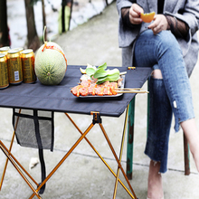 Tourist table portable camping outdoor table camping picnic table 6061 aluminum alloy ultra-light folding table 70 70 69cm aluminum alloy folding table portable outdoor barbecue table camping table picnic desk