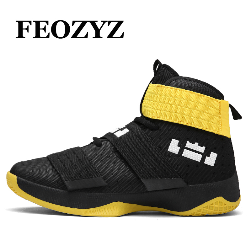 FEOZYZ 2017 New Women Men Basketball Shoes High Top Sneakers Breathable Soldier Basketball Shoe Sport Basket Homme Size 36-45 p76 420 women s basketball size 6